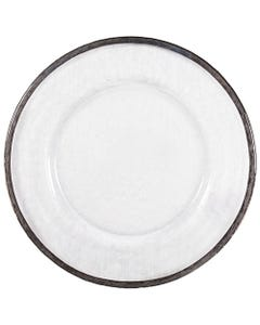Silver Alpine Glass Passing Plate SALE ONLY