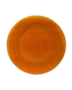 Orange Inca Glass Passing Plate SALE ONLY