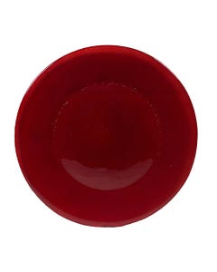 Red Inca Glass Charger - SALE ONLY