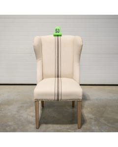 Jute / Gray Stripe Ellis Chair - SALE ONLY - 53