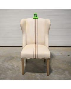 Jute / Gray Stripe Ellis Chair - SALE ONLY - 28